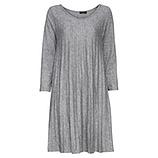 Strick-Kleid mit Plissee, hellgrau