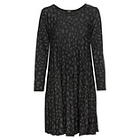 Strick-Kleid im Animal-Look, schwarz