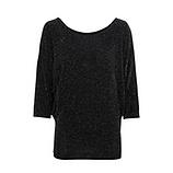 Shirt mit Glitzereffekt, schwarz-silber