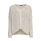 Pullover in Grobstrick, crema