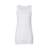 Basic Top aus Baumwolle 76cm, weiß