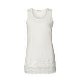 Basic Top aus Baumwolle 76cm, offwhite