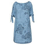 Kleid mit Paisley-Mustern, light blue