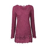 Basic Shirt mit Spitze, cranberry