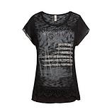 Oversized Shirt mit Frontschmuck, schwarz