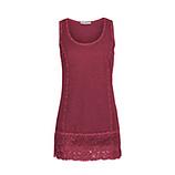 Basic Top aus Baumwolle, scarlet