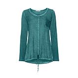 Basic Shirt mit Brusttasche, smaragd