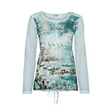 Tunikashirt mit Frontprint, fresh mint