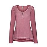 Basic Shirt mit Glitter, granatapfel