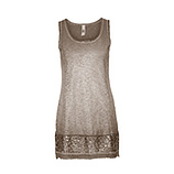 Basic Top mit Glitter-Effekt 76cm, cashmere