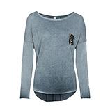Basic Shirt mit Brusttasche, tinte