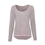Basic Shirt mit Silberfaden, dustyrose