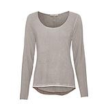 Basic Shirt mit Silberfaden, cashmere