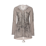 Shirtjacke mit Frontdetails, taupe