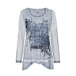 Blusenshirt mit Frontprint, moonlight