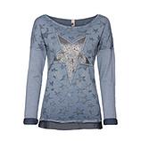 Sweatshirt mit Stern-Optik, denim