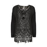 Transparente Bluse, schwarz