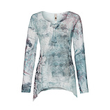 Blusenshirt im Alloverprint, fresh mint