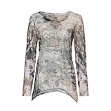 Blusenshirt im Alloverprint, camouflage