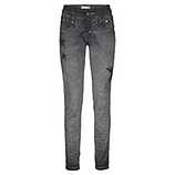 Jeans mit Glitzer- Stern-Applikation 80cm, magnet