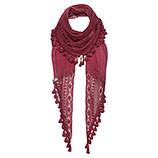 Schal mit Frontdetails, scarlet