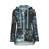 Sweatjacke im Alloverprint, fresh mint