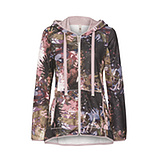 Sweatjacke im Alloverprint, dustyrose