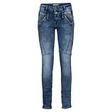 Used-Jeans im Biker Style, denim