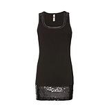 Elegantes Basic Top 76cm, schwarz