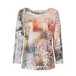 Sweatshirt im Alloverprint, bunt