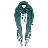 Schal mit Verzierung, smaragd