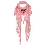 Schal mit Verzierung, flamingo