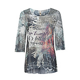 Blusenshirt mit digitalem Alloverprint 3/4 Arm, camouflage