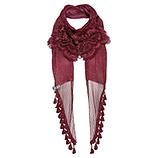 Schal mit Frontverzierung, scarlet