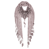 Schal mit Allover-Print, dustyrose