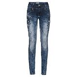 Jeans mit Floralverzierung 82cm, denim