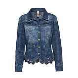 Jeansjacke mit Steinen, light blue
