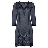 Kleid mit Lochspitze 3/4 Arm, night