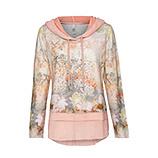 Sweatshirt mit Alloverprint, pfirsich