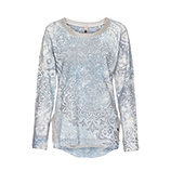Sweatshirt mit Lurex-Details, moonlight