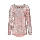 Sweatshirt mit Lurex-Details, flamingo