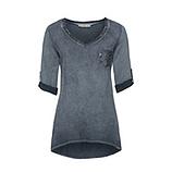 Basic Shirt mit Brusttasche 3/4 Arm, tinte