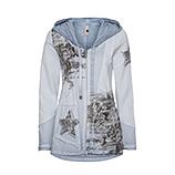 Shirtjacke mit Printdetails, moonlight