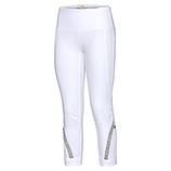 Baumwoll-Leggings mit Ziersteinen 55cm, weiß