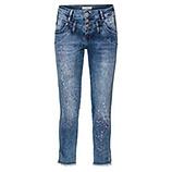 Jeans mit Graffiti-Print, 64cm, denim