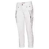 Jeans mit Ziersteinchen 72cm, weiß
