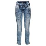 Used-Jeans mit Stickerei 72cm, denim