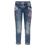 Jeans mit Floralprint 72cm, denim