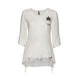 Tunikashirt mit Patch 3/4 Arm, offwhite