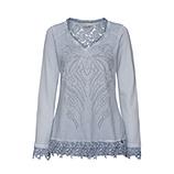 Sweatshirt mit Häkelspitze, moonlight